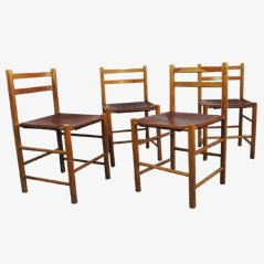 Skandinavische Vintage Esszimmerstühle von Ate van Apeldoorn, 4er Set
