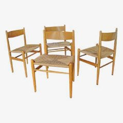 CH36 Dining Chairs by H.J. Wegner for Carl Hansen, Set of 4