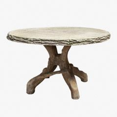 Vintage Composition Stone Terrace Dining Table, 1950