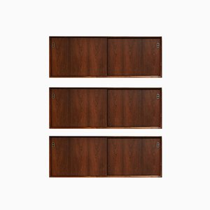 Large Mid-Century Wall Mounted Sideboards by Arne Vodder for Sibast, Set of 3