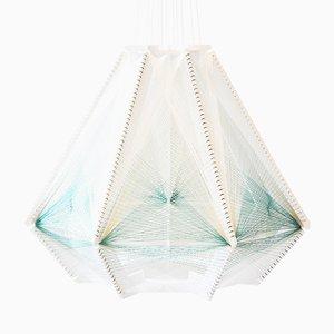 Sputnik Lampshade #9 Blue & White by Julie Lansom