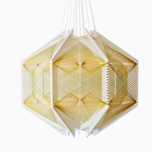 Paralume #12 Sputnik Mono verde e oro di Julie Lansom
