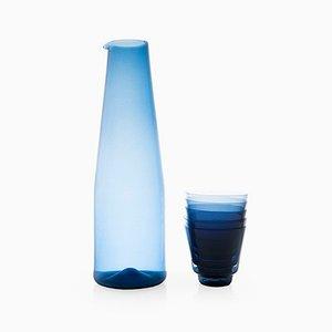 Karaffe mit 5 Gläsern von Timo Sarpaneva für Iittala