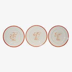 Plates by Gio Ponti for Richard Ginori, 1940, Set of 3