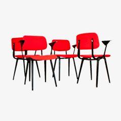 Revolt Stühle von Friso Kramer für Ahrend de Cirkel, 1950er, 4er Set