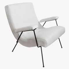 Weißer Sessel von Adrian Pearsall