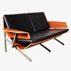 2-Seater Leather Sofa by Cornelis Zitman, 1964