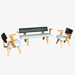 Plywood Lounge Set by Cor Alons for C. de Boer - Gouda, 1948