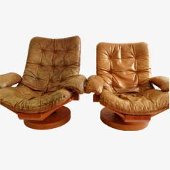 Set of Two Dutch Design Easy Chairs
