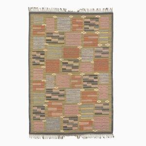 Midcentury Swedish Flat Weave Carpet by Marta Maas-Fjetterström