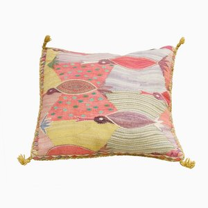 Coussin Motif Oiseaux Swedish Cushion with Birds par Marianne Richter, Suède