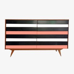 Mid-Century Striped Sideboard