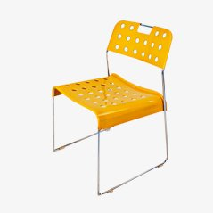 Yellow Omstak Chair by Rodney Kinsman for Bieffeplast, 1972