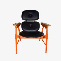 Orangefarbener Stuhl von Poltronova, 1970er