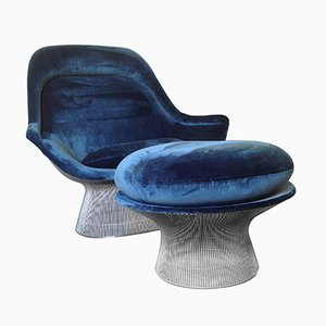 Vintage Easy Chair & Ottoman by Warren Platner for Knoll International