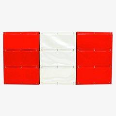 Red & White Softline Shelf by Otto Zapf, 1971