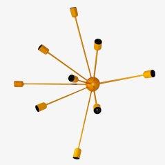 Sputnik 9-Armed Wall Lamp in Yellow