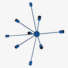 Sputnik 9-Armed Wall Lamp in Blue