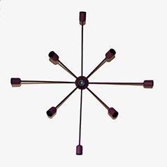 Sputnik 9-Armed Wall Lamp in Purple
