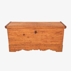 Antique Rural Wooden Box, 1850s