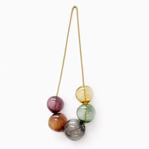 Small Brown Bubbles Wall Hanging by LaLouL / Corinne van Havre