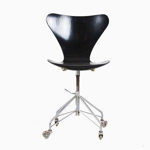 Sedia da ufficio 3117 di Arne Jacobsen, anni '80