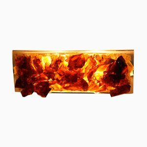 Crystal-Bronze Glass Wall Light by Cosack