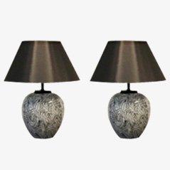 Große Tischlampe aus Keramik von Pander, 1970er, 2er-Set