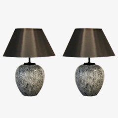 Large Ceramic Table Lamps from Pander, 1970s, Set of Two