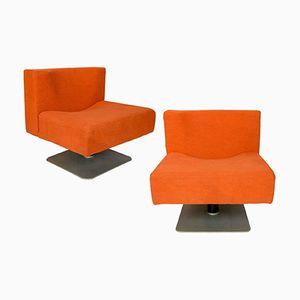 Moderne Orangene Stühle von Knoll, 1960er, 2er Set