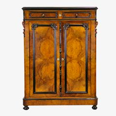 Antike Walnuss Garderobe, 1850