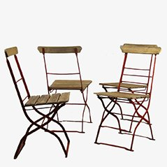 Vintage Outdoor Chairs, 1900s, Set of 4