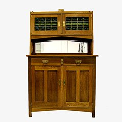 Art Deco Belgian Cupboard & Mirror