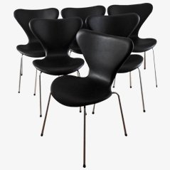 3107 Syveren Elegance Esszimmerstühle von Arne Jacobsen für Fritz Hansen, 6er Set