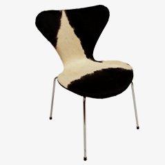 3107 Syveren Dining Chair in Cow Skin by Arne Jacobsen for Fritz Hansen