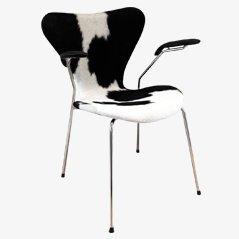 3207 Syveren Cow Skin Dining Chair by Arne Jacobsen for Fritz Hansen