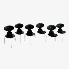 FH 3100 Ant Chairs by Arne Jacobsen for Fritz Hansen, 1969, Set of 6