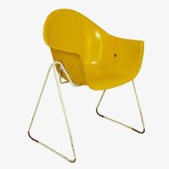 Sedia da bambino gialla di Walter Papst per Wilkhahn, anni '60