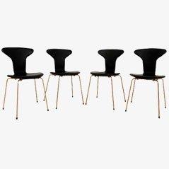3105 Mosquito Stühle von Arne Jacobsen für Fritz Hansen, 4er Set