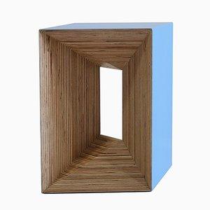 Stuhl aus Bluefarbenem Schichtholz von Studio Deusdara