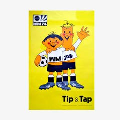 Tip & Tap World Cup 1974 Poster by Horst Schäfer for Mitgel Bonn-Impekoven