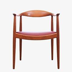 Poltrona The Chair di Hans J. Wegner per Johannes Hansen, Scandinavia
