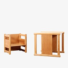 Set de Table et Chaise d'Enfant Réversible Scandinave par Magnus L. Stephensen & Kay Bojesen