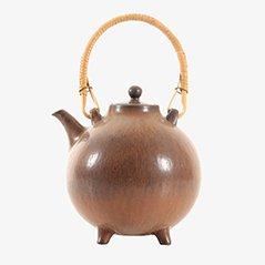 Skandinavische Keramik Teekanne von Gunnar Nylund für Rörstrand