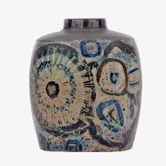 Große Baca Faience Vase von Nils Thorsson für Royal Copenhagen, 1970er