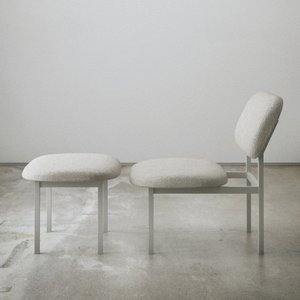 Re-Imagined Low Chair in Grey by Nina Tolstrup