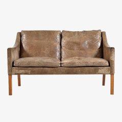 2208 Ledersofa von Børge Mogensen für Fredericia Furniture, 1970