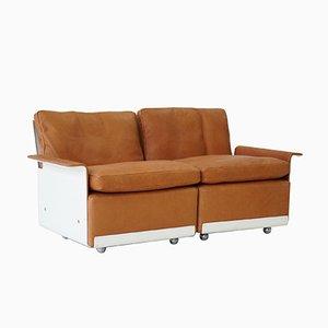 Modulares RZ 62 620 Zwei-Sitzer Sofa aus Leder von Dieter Rams für Vitsoe, 1960er