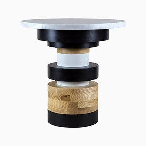 """Sass Side Table Low wtih 16"""" Marble Top by MPGMB for Souda"""