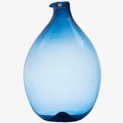 Blaue Pullo Glasflasche von Timo Sarpaneva für Iittala